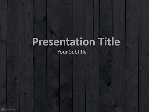 Dark Wooden Plank PowerPoint Template