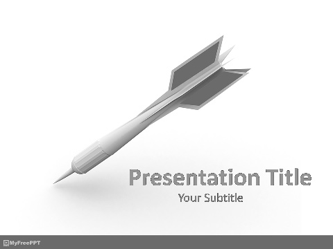 Free Dart Arrow PowerPoint Template