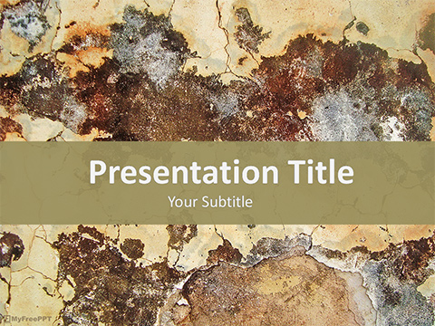 Free Decayed Wall PowerPoint Template