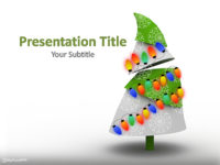 Free Decorated Christmas Tree PowerPoint Template