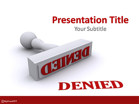 Denied Stamp PowerPoint Template