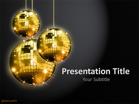 Free Disco Light PowerPoint Template