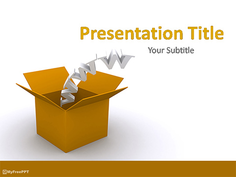 Free Domain Box PowerPoint Template