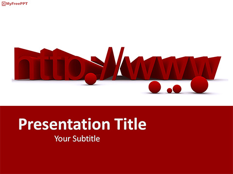Free Domain Name PowerPoint Template