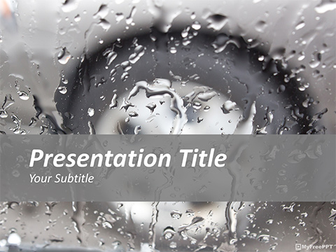 Drops on Glass PowerPoint Template