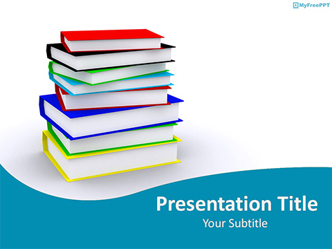 Educational Books PowerPoint Template