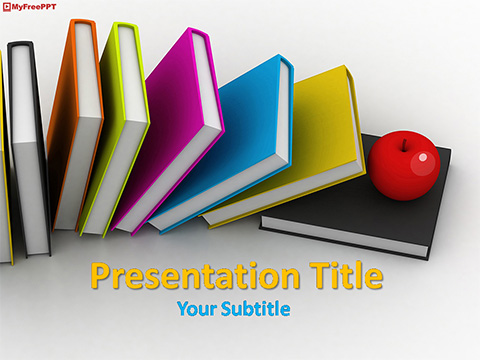 Free Educational Books PowerPoint Template