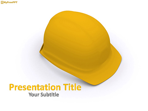 Free Engineer Cap PowerPoint Template
