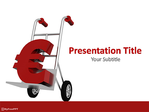 Free Euro on Cart PowerPoint Template