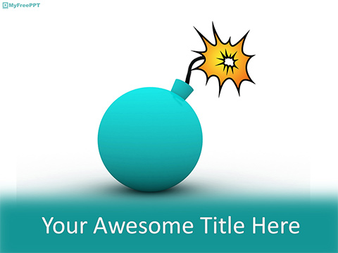 Explosion PowerPoint Template