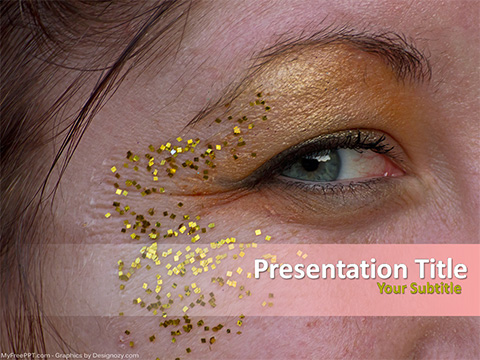Free Eye Fashion PowerPoint Template