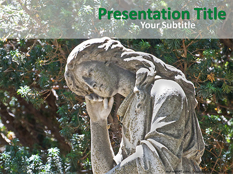 Free Female Statue PowerPoint Template