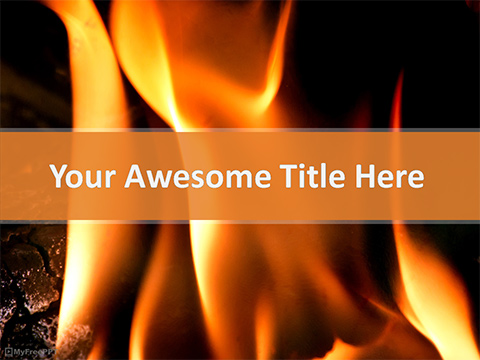 Fire Flame PowerPoint Template