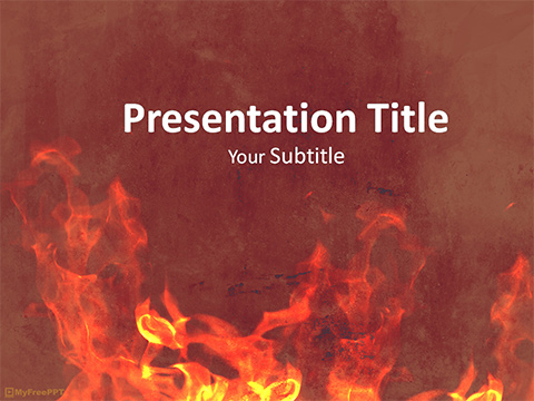 Free Fire Painted Wall Powerpoint Template Download Free Powerpoint Ppt