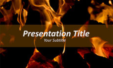 Free Fire Flames PowerPoint Template