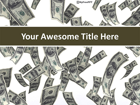 Free Floating Dollars PowerPoint Template