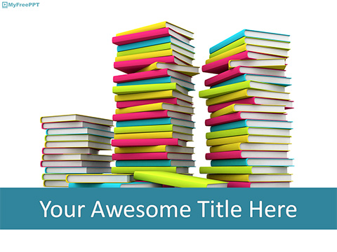 Free Flock of Books PowerPoint Template