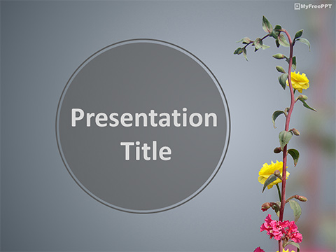 Free Flowers Branch PowerPoint Template
