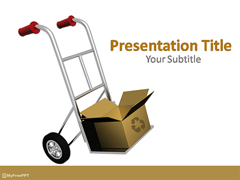 Free Fragile Cart PowerPoint Template