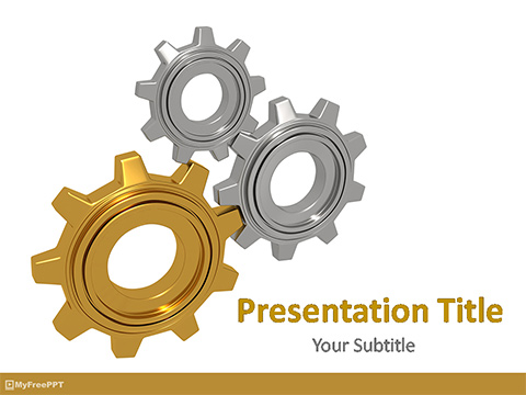 Free Gear Setting PowerPoint Template