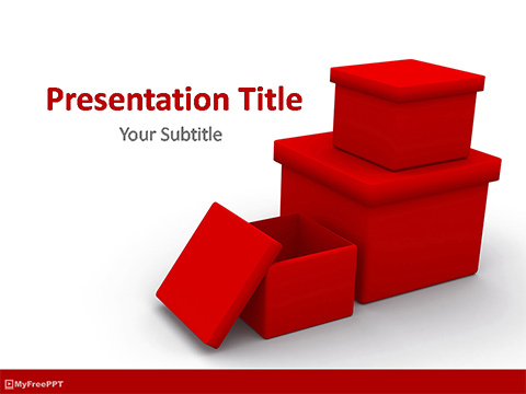 Free Gift Boxes PowerPoint Template