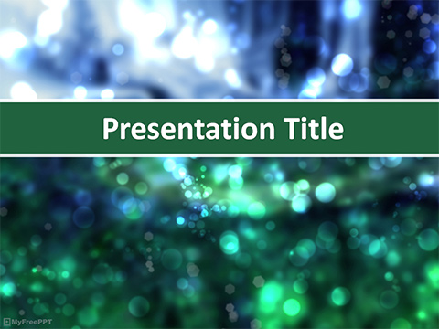 Free Glowing Bokeh PowerPoint Template