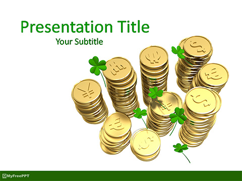 Free Gold Currency Coins PowerPoint Template