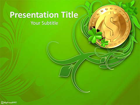 Free Gold Dollar Coin PowerPoint Template