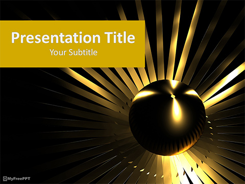 Free Golden Abstract Background PowerPoint Template