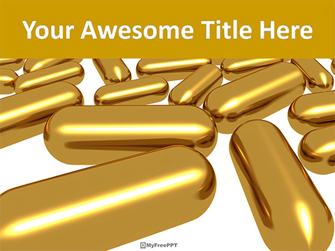 Golden Capsules PowerPoint Template