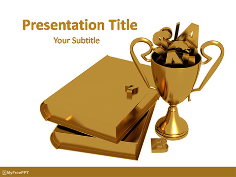 Free Golden Chance for Education PowerPoint Template