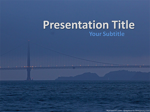 Free Golden Gate Bridge at Night PowerPoint Template