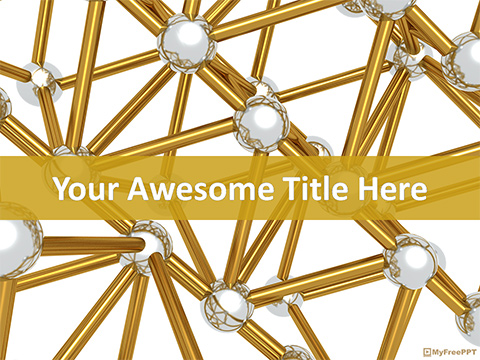 Golden Molecules PowerPoint Template