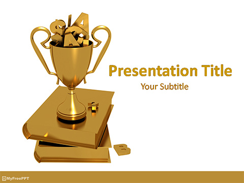 Free Golden Opportunity for Education PowerPoint Template