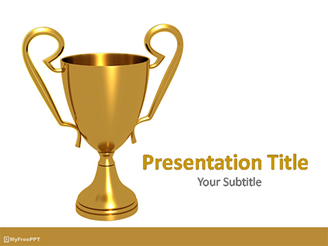 Free Golden Trophy PowerPoint Template