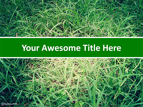 Green Grasses PowerPoint Template