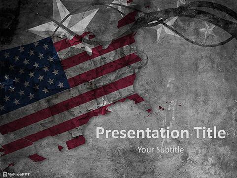 Free Grunge US Graphic PowerPoint Template