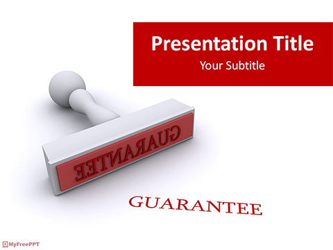 Guarantee Stamp PowerPoint Template