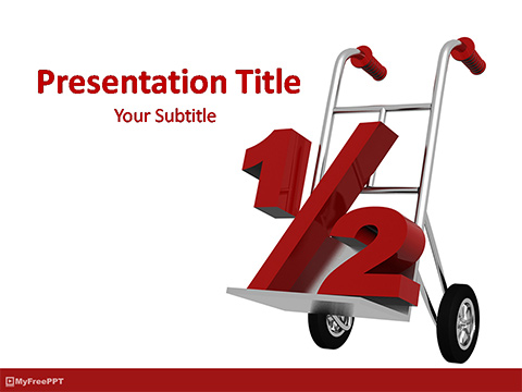 Half Discount on Shopping PowerPoint Template