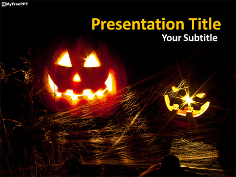 Free Halloween Jack O Lantern Powerpoint Template Download