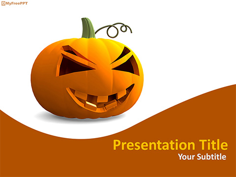 Free Halloween Pumpkin PowerPoint Template
