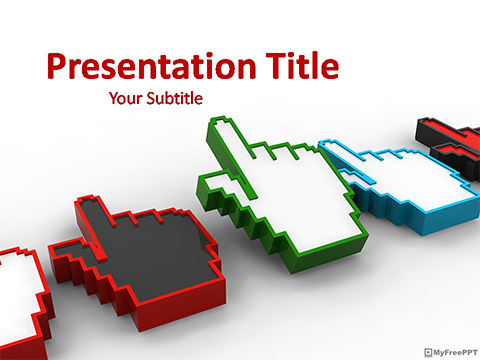 Hand Cursors PowerPoint Template