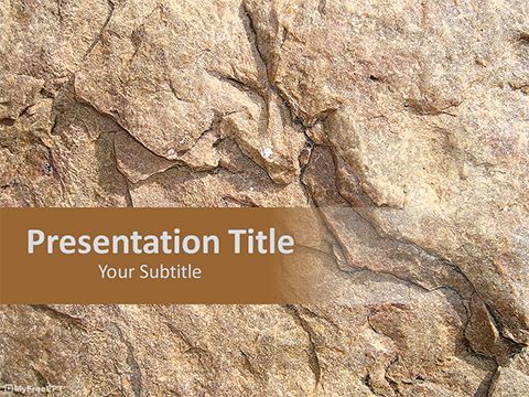 Free Hard Rock Texture PowerPoint Template