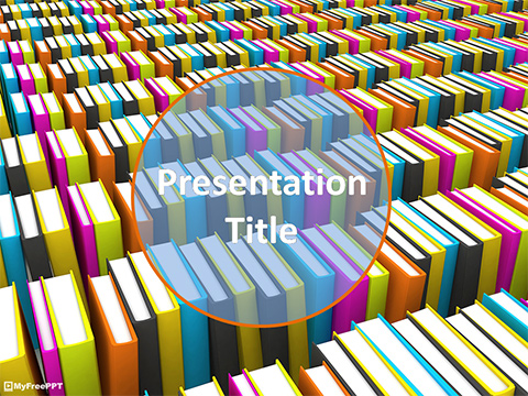 Free Herd of Books PowerPoint Template