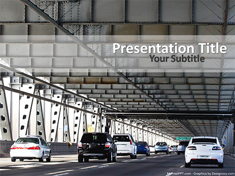 Free Highway Traffic PowerPoint Template
