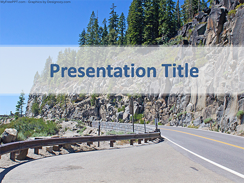 Free Hill Road PowerPoint Template