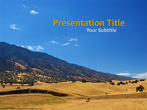 Free Hillside Mountain PowerPoint Template