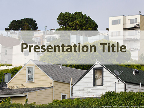 Free Houses PowerPoint Template