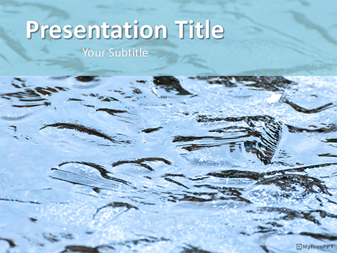 Ice Water Texture PowerPoint Template