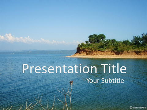 Free Island PowerPoint Template